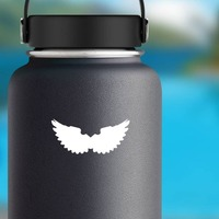Bumpy Wings Sticker on a Water Bottle example