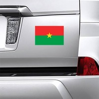 Burkina Faso Country Flag Magnet on a Car Bumper example