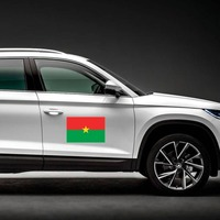 Burkina Faso Country Flag Magnet on a Car Side example