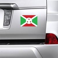 Burundi Flag Magnet on a Car Bumper example