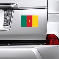 Cameroon Flag Magnet on a Car Bumper example