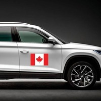 Canada Flag Magnet on a Car Side example