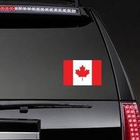 Canada Flag Sticker on a Rear Car Window example