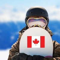 Canada Flag Sticker on a Snowboard example