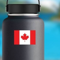 Canada Flag Sticker on a Water Bottle example