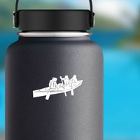Canoe Sticker on a Water Bottle example