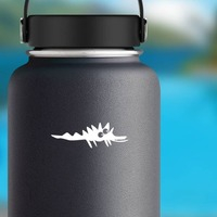 Cartoon Alligator Crocodile Sticker on a Water Bottle example