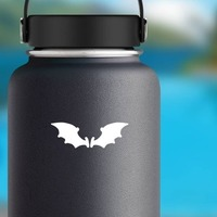 Cartoon Bat Wings Sticker on a Water Bottle example