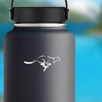 Cheetah Running Sticker on a Water Bottle example