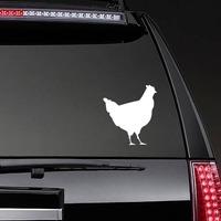 Chicken Sticker on a Rear Car Window example