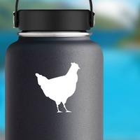 Chicken Sticker on a Water Bottle example
