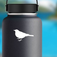 Chubby Partridge Sticker on a Water Bottle example