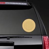 Circular Band Aid Bandage Sticker on a Rear Car Window example