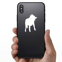 Clever Wolf Coyote Sticker on a Phone example
