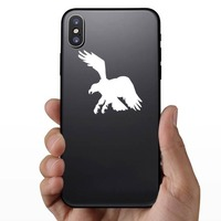 Clever Eagle Sticker on a Phone example