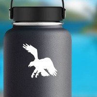 Clever Eagle Sticker on a Water Bottle example