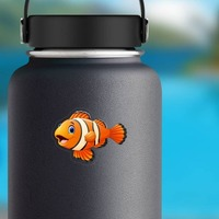 Clown Fish Sticker on a Water Bottle example