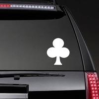 Club Shape Sticker on a Rear Car Window example