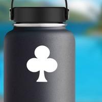 Club Shape Sticker on a Water Bottle example