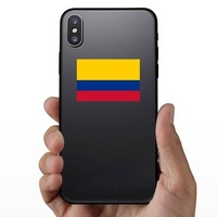 Colombia Country Flag Sticker on a Phone example