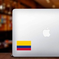 Colombia Country Flag Sticker on a Laptop example