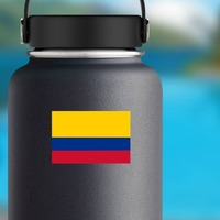 Colombia Country Flag Sticker on a Water Bottle example