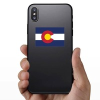 Colorado Co State Flag Sticker on a Phone example