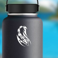 Cool Abstract Scorpion Sticker on a Water Bottle example