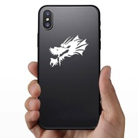 Cool Dragon Head Sticker on a Phone example