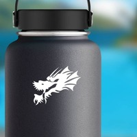 Cool Dragon Head Sticker on a Water Bottle example