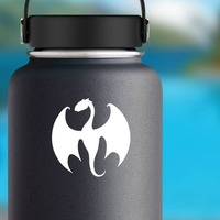 Cool Dragon Sticker on a Water Bottle example