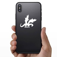 Cool Dragon With Large Wings Sticker on a Phone example