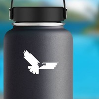 Cool Eagle Sticker on a Water Bottle example