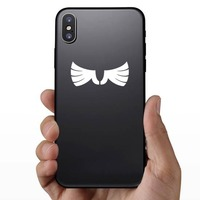 Cool Feathered Wings Sticker on a Phone example