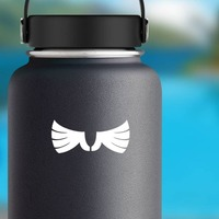 Cool Feathered Wings Sticker on a Water Bottle example
