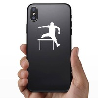 Cool Hurdler Sticker on a Phone example