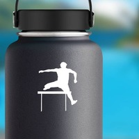 Cool Hurdler Sticker on a Water Bottle example