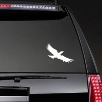 Cool Seagull Sticker on a Rear Car Window example