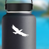 Cool Seagull Sticker on a Water Bottle example