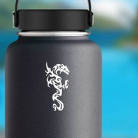 Cool Tribal Dragon Sticker on a Water Bottle example