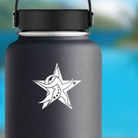 Cool Tribal Star Sticker on a Water Bottle example