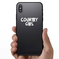 Country Girl Sticker on a Phone example