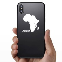 Country Of Africa Sticker on a Phone example