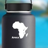 Country Of Africa Sticker on a Water Bottle example