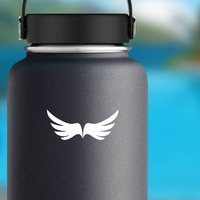 Courageous Wings Sticker on a Water Bottle example