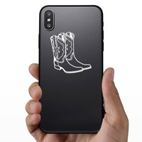 Cowboy Boots Sticker on a Phone example