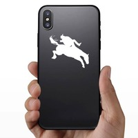 Cowboy Flying Off A Horse Sticker on a Phone example