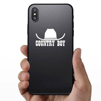 Cowboy Hat  Country Boy Sticker on a Phone example
