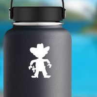 Cowboy Kid Sticker on a Water Bottle example
