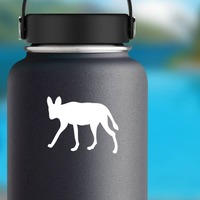 Coyote Wolf Dog Sticker on a Water Bottle example